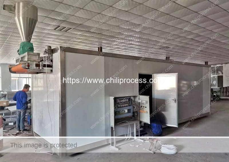 Automatic Multi-Layer Chili Dryer Machine for Mexico Customer